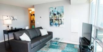 Furnished suite living area