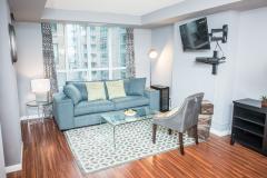 Corporate short term rental living area