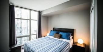 Furnished apartment master bedroom