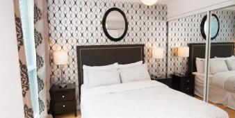 Corporate short term rental master bedroom