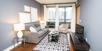 Furnished Apartment living area