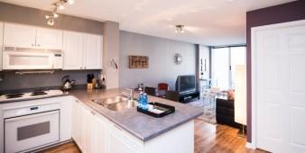 Corporate short term rental main living area