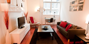 Corporate short term rental living room