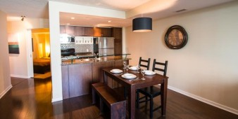 Corporate short term rental kitchen